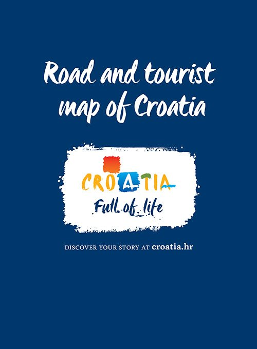 Road and tourist map of Croatia